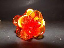 """MURANO ART STYLE ORANGE YELLOW AMBERINA LONG STEM GLASS FLOWER 8"""""""