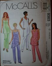 McCall 9363 Misses Tunics and Pants Special Occasion Petite-able Sizes 10-12-14