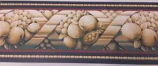 Navy Blue, Fruit Crisscross- YORK Wallpaper Border, 5 yd pkg,  CO 7927-B (R-01)