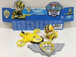 LOOSE New 2016 Nickelodeon/SpinMaster PAW PATROL Air Rescue RUBBLE Pup & Badge