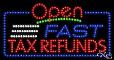 "New ""Open Fast Tax Refunds"" 32x17 Solid/Animated Led Sign W/Custom Options 25496"