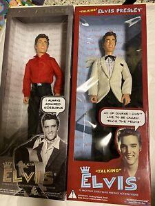 2 Elvis Presley Doll Figures TALKING ELVIS By TALKING PRESIDENTS