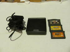 Nintendo Gameboy Advance SP Black Ags-001 - With GAMES- Tested And Working