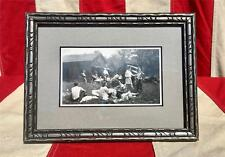 Vintage 1930s Antique Photograph Archery Outing Group Framed Bow & Pfeil Hunting