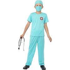Costume Dottore Bambino Medico Chirurgo Carnevale Halloween TG 10/12 Anni Nuovo