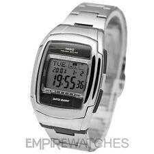 **NEW** CASIO MENS DATABANK TOUGH SOLAR STEEL WATCH - DBE30D-1AV - RRP £75