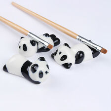 Nail Art Brush Pen Rack Ceramic Stand Holder Panda Design Manicure Tool Random