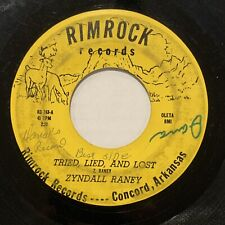 "ARKANSAS ROCKABILLY 45 ZYNDALL RANEY ""Got That Lonesome Feeling"" RIMROCK G+"