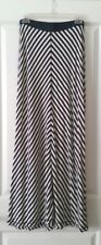 Sophie Max Cool & Comfy Maxi Skirt Navy & White Nautical Diagonal Stripes Size M