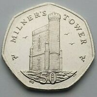 Isle of Man Milner's Tower 50p coin - Circulated
