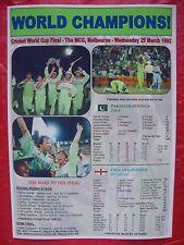 Pakistan 1992 ICC Cricket World Cup winners - souvenir print