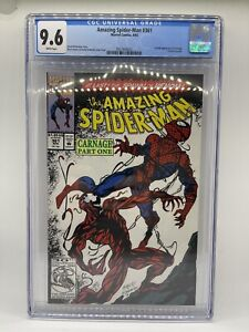 Amazing Spider-man #361 CGC 9.6 White Pages 1st Full Appearance of Carnage!