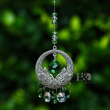 Green Hanging Suncatcher Crystals Ball Prisms Fengshui Pendants Car Mirror 20mm