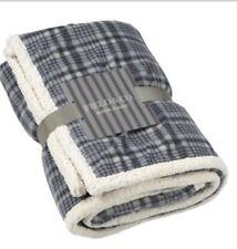 "Field & Co Cozy Sherpa Blanket. Grey & White 50"" x 60"". Peak Event Services Logo"