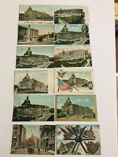 12 Massachusetts State Capitals Vintage Post Cards Posted and Unposted