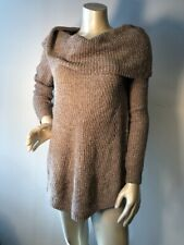 NWT Anthropologie MOTH Chenille S Turtleneck Taupe cowl neck Tunic Sweater Bin-Q