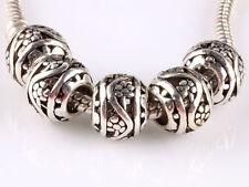 hot 20PCS retro Tibetan silver big hole beads fit Charm European Bracelet AA610