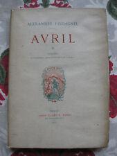 1877 Avril Piedagnel Lalauze exemplaire d' auteur Poèmes bibliophilie Liseux