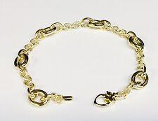"""14kt Yellow gold DESIGNER FASHION link BRACELET 7.5""""  8.5 MM  5 grams"""