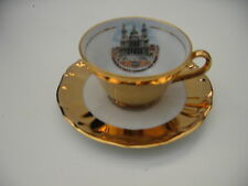 Demitasse Cup- n -Saucer  Set -   Bavaria -Western Germany -Heavy Gold Finish