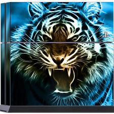 "Sony PS4 Skin "" TIGER BEAST "" Design Schutzfolie Folie Sticker Set Playstation"