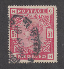 Great Britain Sc 108 used 1884 5sh Queen Victoria, F-VF