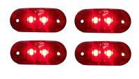 4x 24V Rot Begrenzungsleuchte 2 LED Umrissleuchte E-Prüf Positionsleuchte