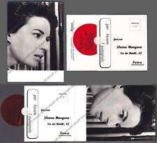 SILVANA MANGANO 16 ATTRICE ACTRESS CINEMA MOVIE Cartolina FOTOGRAF. x AUTOGRAFO