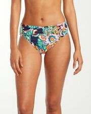 Tommy Bahama - Mare Paisley High-Waist Cross-Sash Hipster Bikini Bottom XS 1885