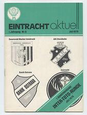 Orig.PRG    IFC - Intertoto Cup 1976   BRAUNSCHWEIG/INSBRUCK/STOCKHOLM/OSTRAVA !