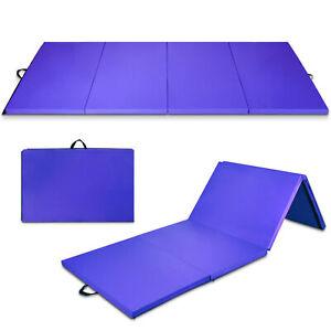 "4'x10'x2"" Folding Gymnastic Tumbling Mat Yoga Aerobics Gym Exercise Fitness Mat"