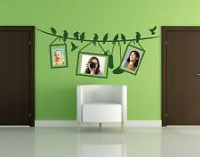 Line with Birds Picture Frame - highest quality wall decal stickers