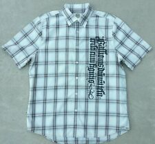 New Juicy Couture Men's Vintage Short Sleeve Plaid Shirt NWT Large