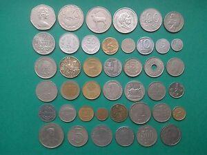 Vintage Coin MIX world 42 pieces - Monety MIX swiat 42 sztuk