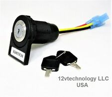 Labeled Key Switch SPDT Stainless Steel Panel  Mount 12V Ignition Accessories.