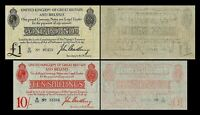 2x 10 Shillings + 1 Pound - Issue ND 1914 - 1915 George V - Reproduction - 27