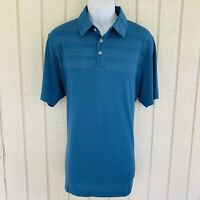 adidas Mens ClimaCool Bodymap Performance Golf Polo Shirt Large Corblu Blue NWT