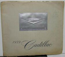 1959 Cadillac Prestige Brochure 62 Sedan DeVille Fleetwood 60 Eldorado 75 Limo