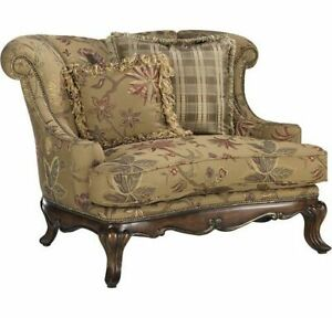 Oversize Wingback Chair with Matching Ottoman by Dunwoody Haverty Furniture