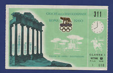 Orig.ticket Olympic Games Rom 1960 - Equestrian Dressage Final ! Rare