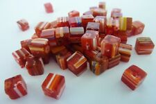 50 pce Red Square Millefiori Glass Spacer Beads 6mm Jewellery Making Craft