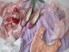 Lot vintage 1950 S 60 S Danse Costumes Childrens Fleur Fée Filet Paillettes Tiara