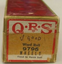 More details for qrs pianola word roll: wheels (the string alongs hit)