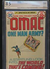 OMAC #1! DC 1974! Signed by Mike Royer! PGX (Not CGC) 8.5! SEE PICS AND SCANS!
