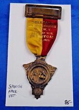 1925 Spanish American War Veteran 26th Annual Encampment Delegate Medal Ribbon