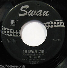 THE TRAINS-The Beware Song & Fourteen Getting Older-Doo Wop-Soul 45-SWAN #S4203T