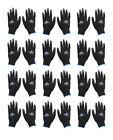 MCR Safety 9669M Black PU Nylon Gloves, Medium, 12 Pairs