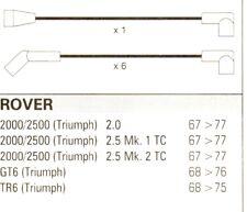 ROVER TRIUMPH GT6 TR6 2000/2500 10mm Formula Power, Renn Qualität HT Kabel FP202
