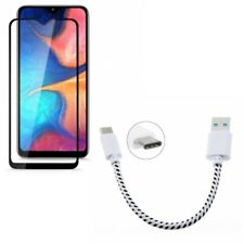 Samsung Galaxy A50/A20 Short USB Cable Type-C Cord w Screen Protector
