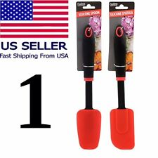 "Heat Resistant Non-Stick Silicone Spatula 11.85"" Flexible Rubber Scraper Kitchen"